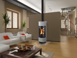 CADIZ Serpentino - interier Euro Fireplace